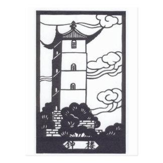 Carte Postale Pagoda chinoise