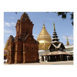 Carte Postale Pagoda dans Myanmar