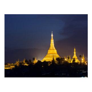 Carte Postale Pagoda de Shwedagon la nuit