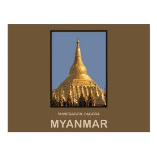 Carte Postale Pagoda Yangon Myanmar de Shwedagon