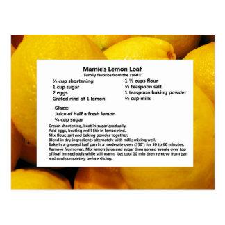 Carte Postale Pain du citron de Mamie