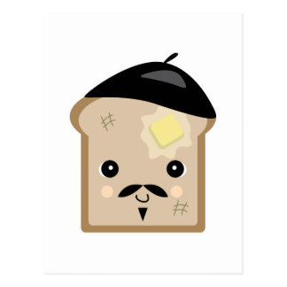 Carte Postale pain grillé français mignon