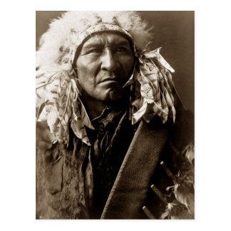 Carte Postale Pain, un Indien d'Amerique indigène d'Apsaroke