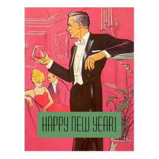 Carte Postale Pains grillés vintages de monsieur de bonne année