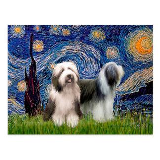 Carte Postale Paires 1 de Beardie - nuit étoilée