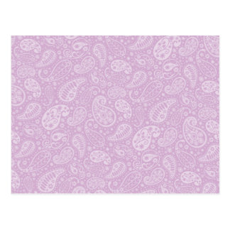 Carte Postale Paisley lilas floral