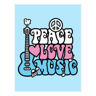 Carte Postale Paix-Amour-Musique