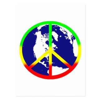 Carte Postale Paix du monde de Rasta
