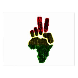 Carte Postale Paix en Afrique