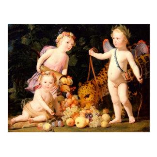 Carte Postale Paix et abondance - motif vintage - Honthorst