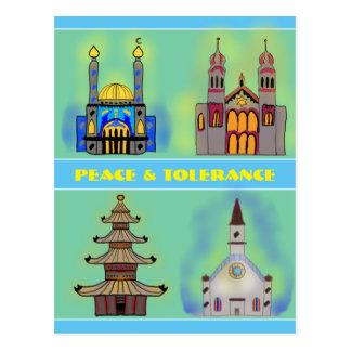 Carte Postale Paix et tolérance