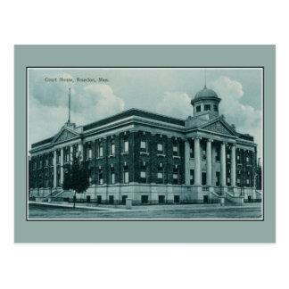 Carte Postale Palais de justice 1910 du cru c Brandon Manitoba