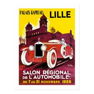Carte Postale Palais Rameau - Lille - annonce d'automobile -