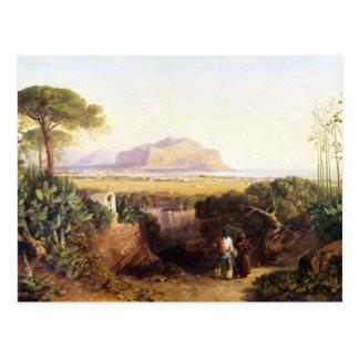 Carte Postale Palerme, Sicile, 1847 (huile sur la toile)