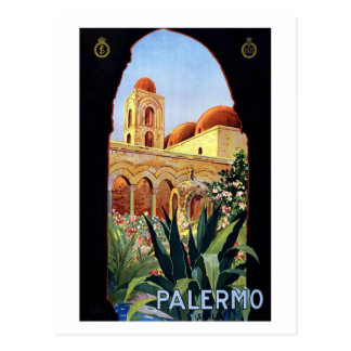 Carte Postale Palerme vintage Sicilia