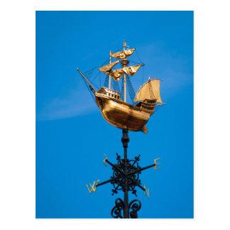 Carte Postale Palette de vent d'or