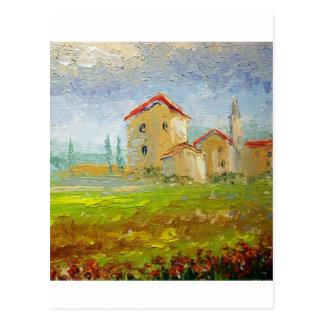 Carte Postale Palette de village de la Toscane