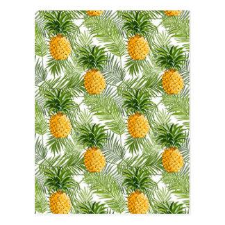 Carte Postale Palmettes et ananas tropicaux