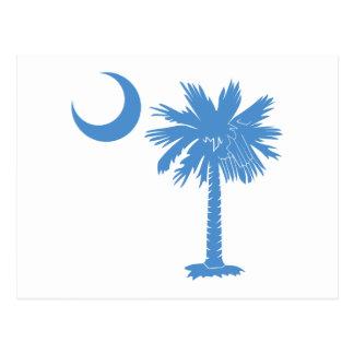 Carte Postale Palmetto bleu-clair
