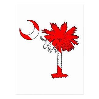 Carte Postale Palmetto de drapeau de piqué
