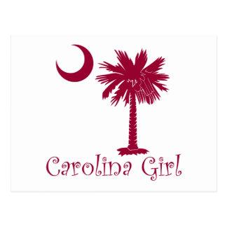 Carte Postale Palmetto de fille de la Caroline de grenat