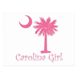 Carte Postale Palmetto rose de fille de la Caroline