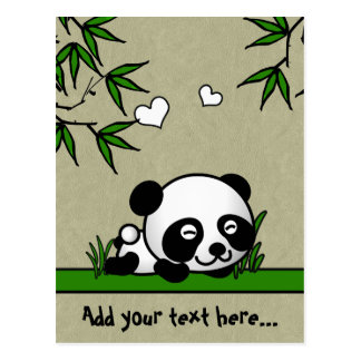 Carte Postale Panda confiant
