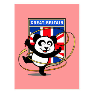 Carte Postale Panda de gymnastique rythmique de la