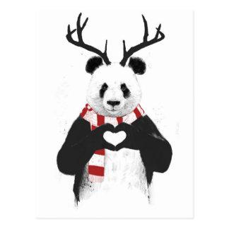 Carte Postale Panda de Noël