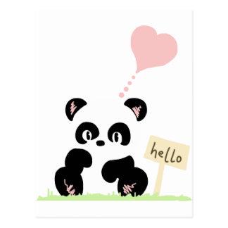 Carte Postale Panda mignon