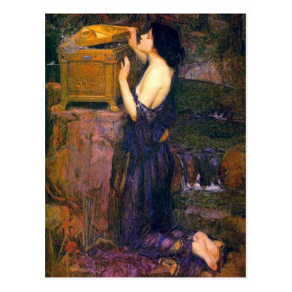 Carte Postale Pandore par John William Waterhouse