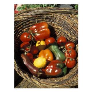 Carte Postale Panier des fruits et légumes sur l'endroit