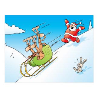 Carte Postale Panique de Noël