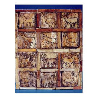 Carte Postale Panneau de jeu, animaux du champ et forêt