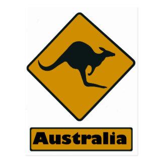 Carte Postale Panneau routier de l'Australie - croisement de