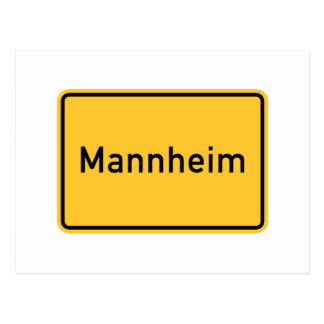 Carte Postale Panneau routier de Mannheim, Allemagne