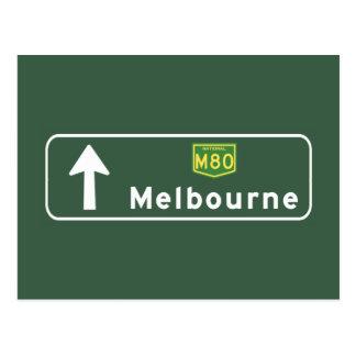 Carte Postale Panneau routier de Melbourne, Australie