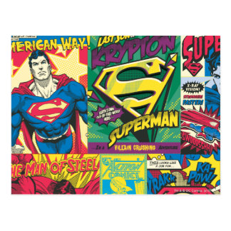 Carte Postale Panneaux comiques de Superman
