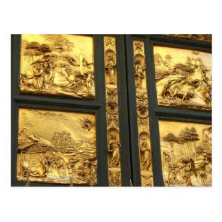 Carte Postale Panneaux dorés Florence