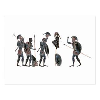 Carte Postale Panoplie - célébration de hoplites du grec ancien