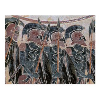 Carte Postale Panoplie - Hoplites formant