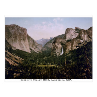 Carte Postale Panorama de vallée de Yosemite, la Californie