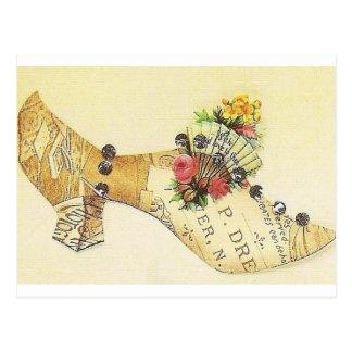 Carte Postale Pantoufle victorienne vintage de fan de Cendrillon