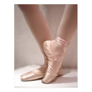 Carte Postale Pantoufles roses de ballet