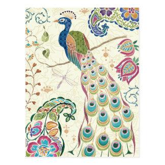 Carte Postale Paon bleu majestueux