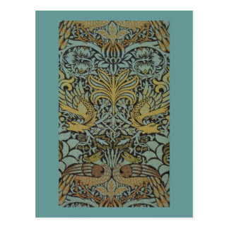 Carte Postale Paon et dragon par William Morris