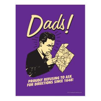 Carte Postale Papas : Refuser de demander des directions