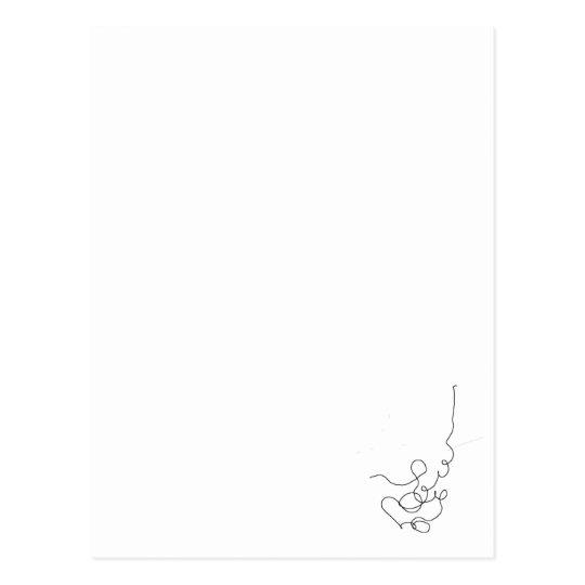 Carte Postale papier, crayon