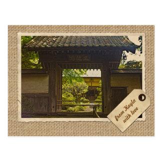 Carte Postale Papier de cru de temple de Kamakura Japon