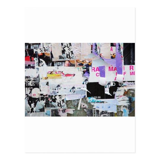 Carte Postale Papier déchiré par style de Banksy de mur de | Zazzle.fr